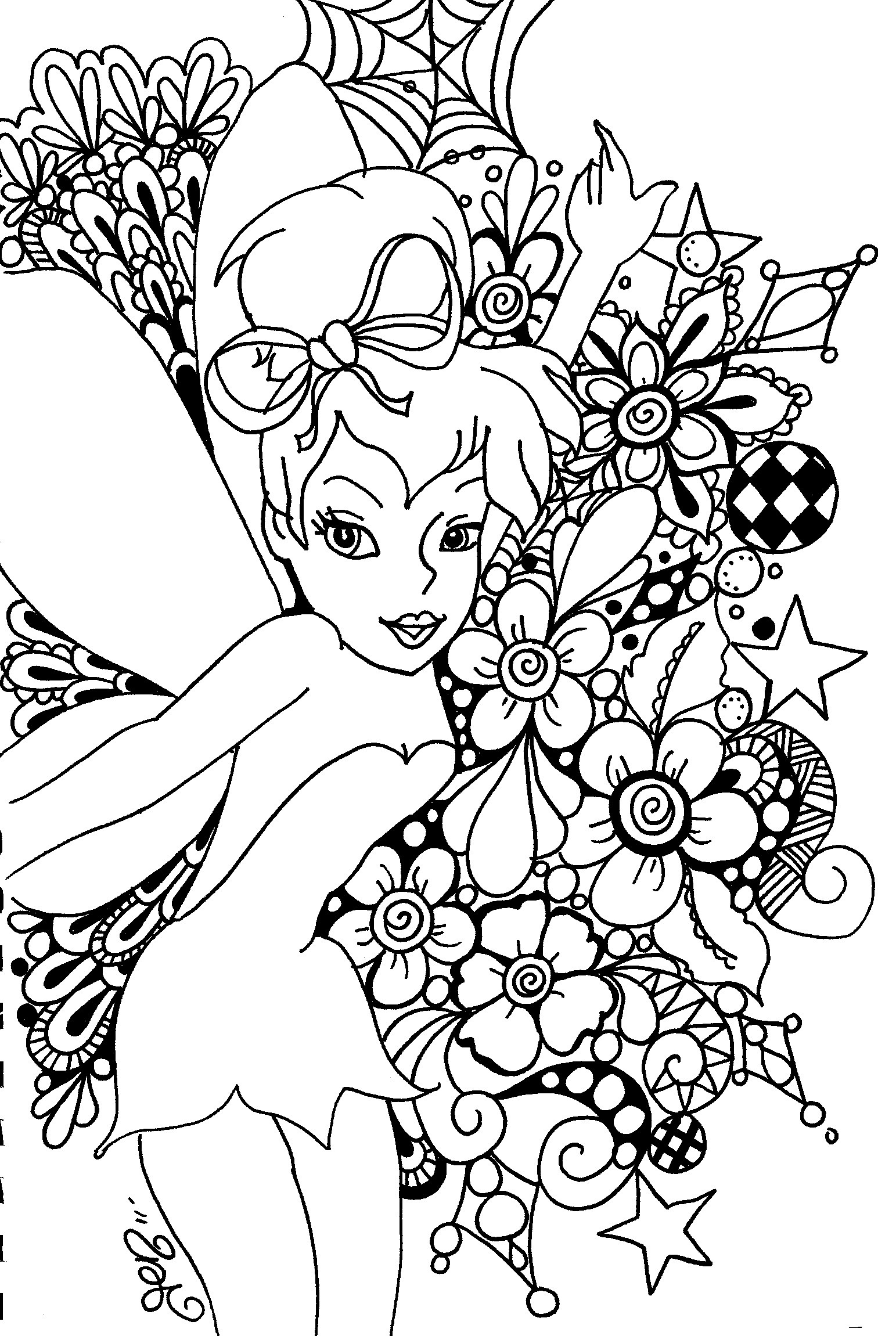 Free Printable Tinkerbell Coloring Pages For Kids - Tinkerbell Coloring Pages Printable Free