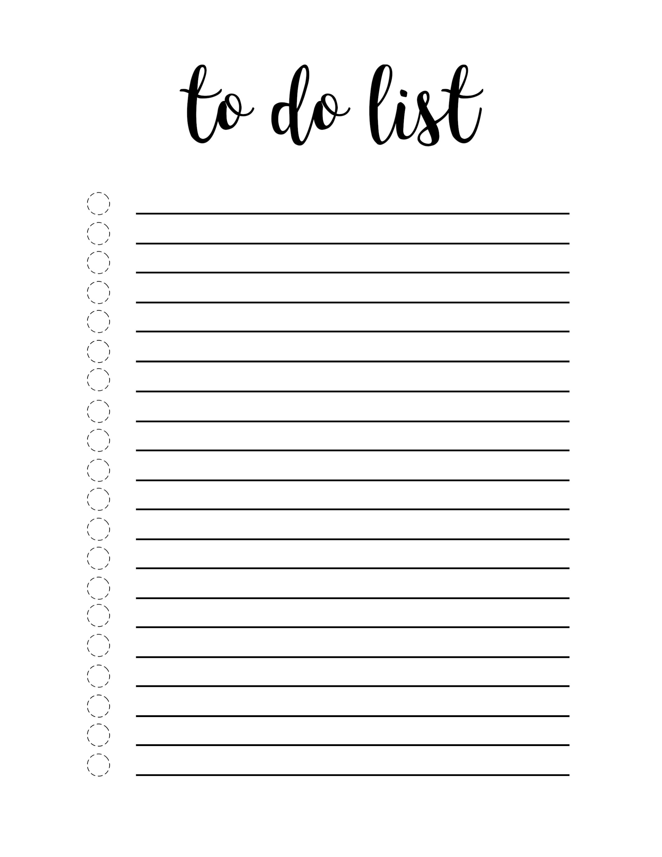 Free Printable To Do List Template - Paper Trail Design - To Do Template Free Printable