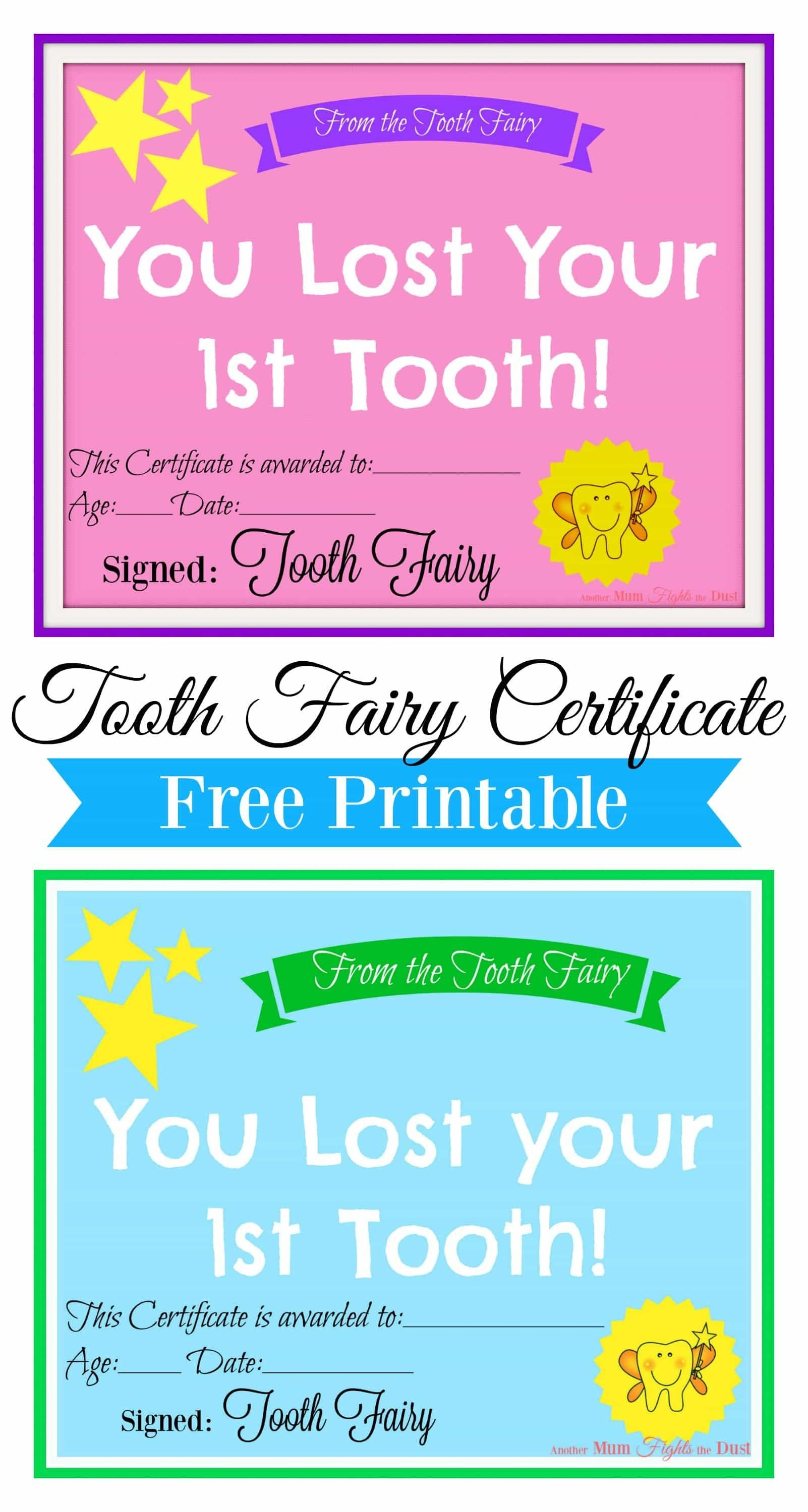 Free Printable Tooth Fairy Certificate | Tooth Fairy Ideas | Tooth - Free Printable Tooth Fairy Pictures