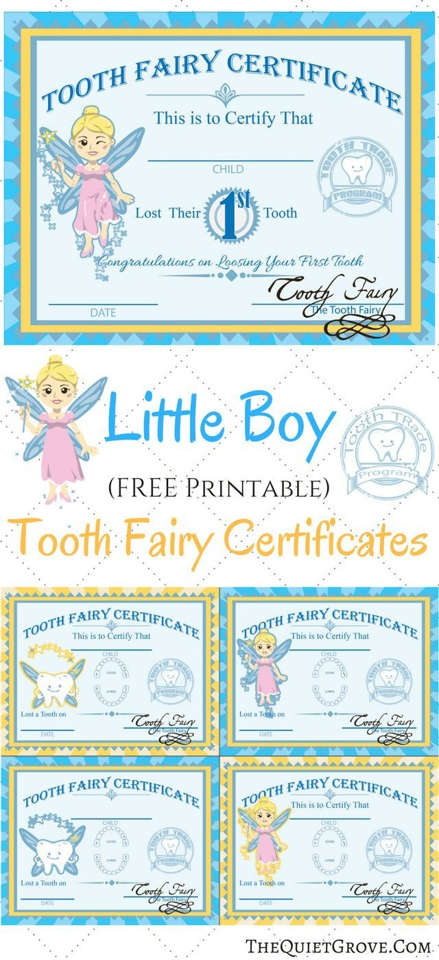 Free Printable Tooth Fairy Certificates | Fabnfree // Freebie Group - Free Printable Tooth Fairy Pictures
