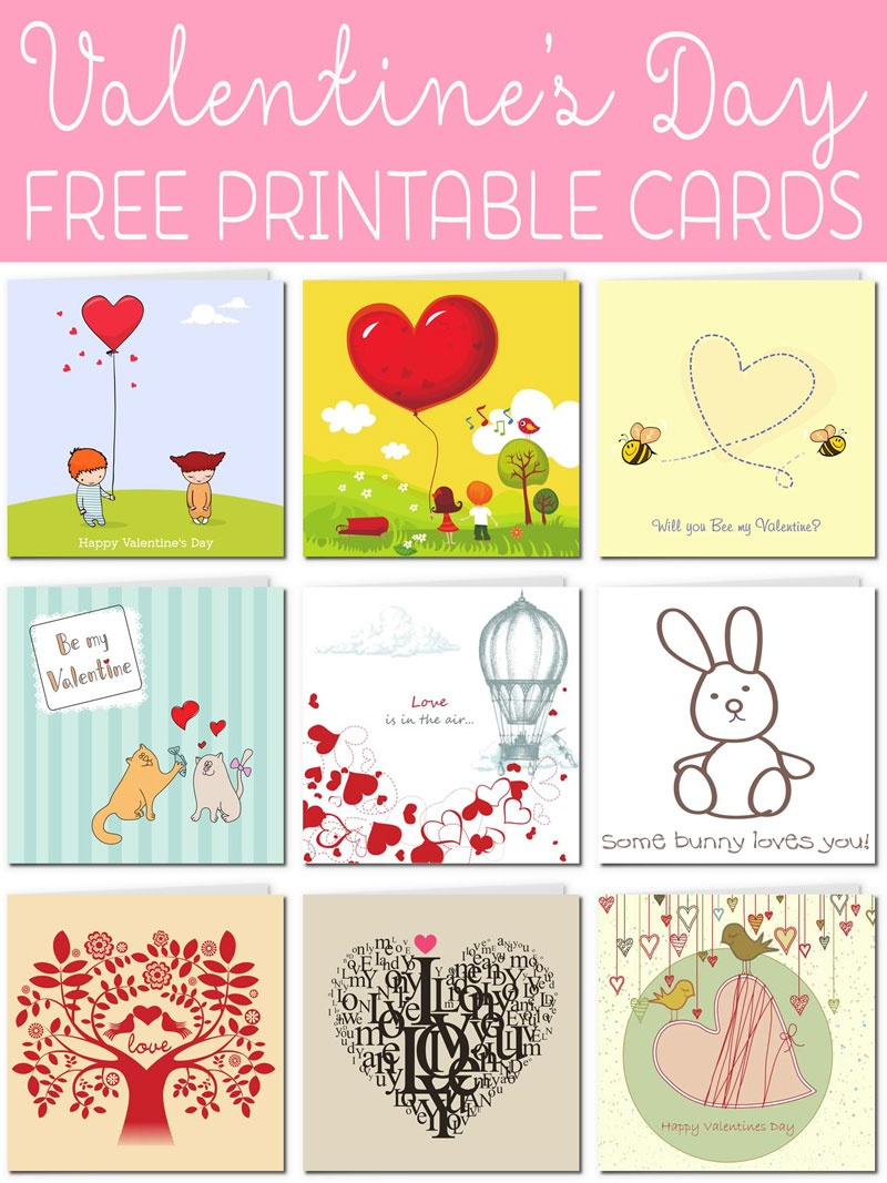 Free Printable Valentine Cards - Free Printable Cat Valentine Cards