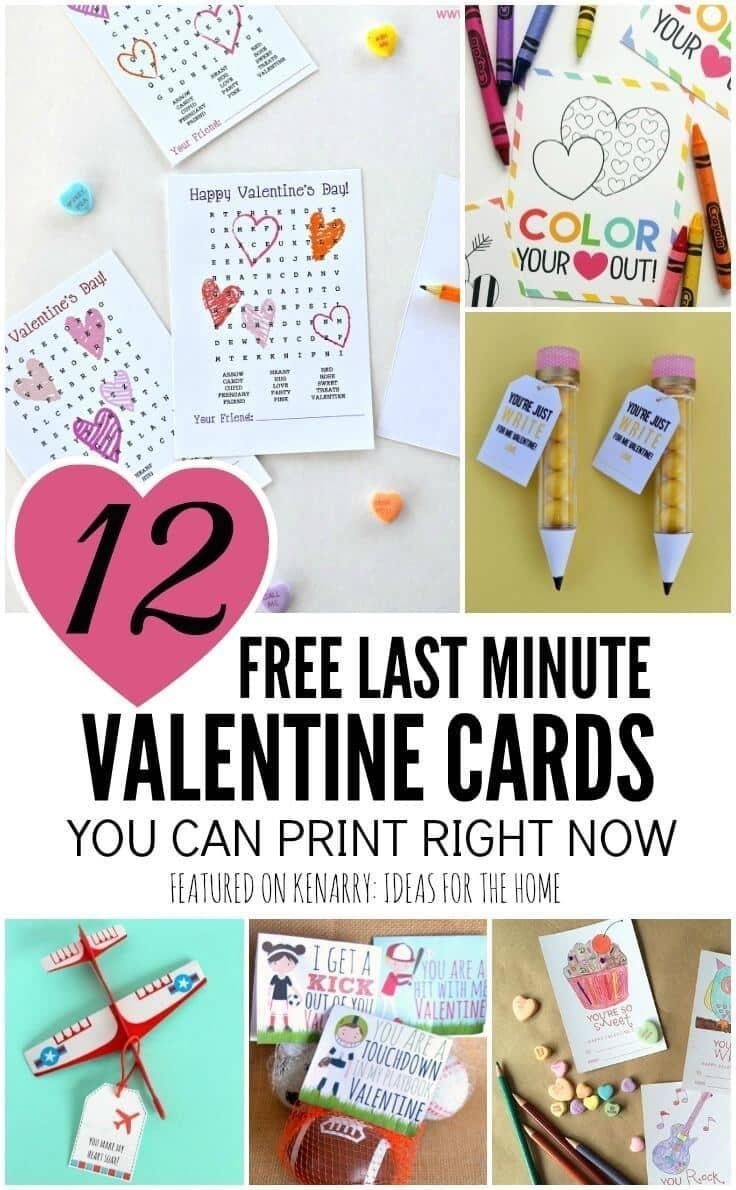 Free Printable Valentines: 12 Last Minute Cards You Can Print Now - Free Printable Valentines For Kids