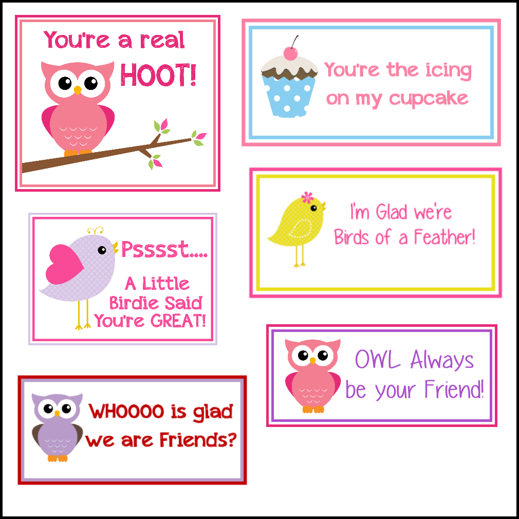 Free Printable Valentine's Cards (A Lot Of Them   Diy-Owl Printabes - Free Printable Owl Valentine Cards
