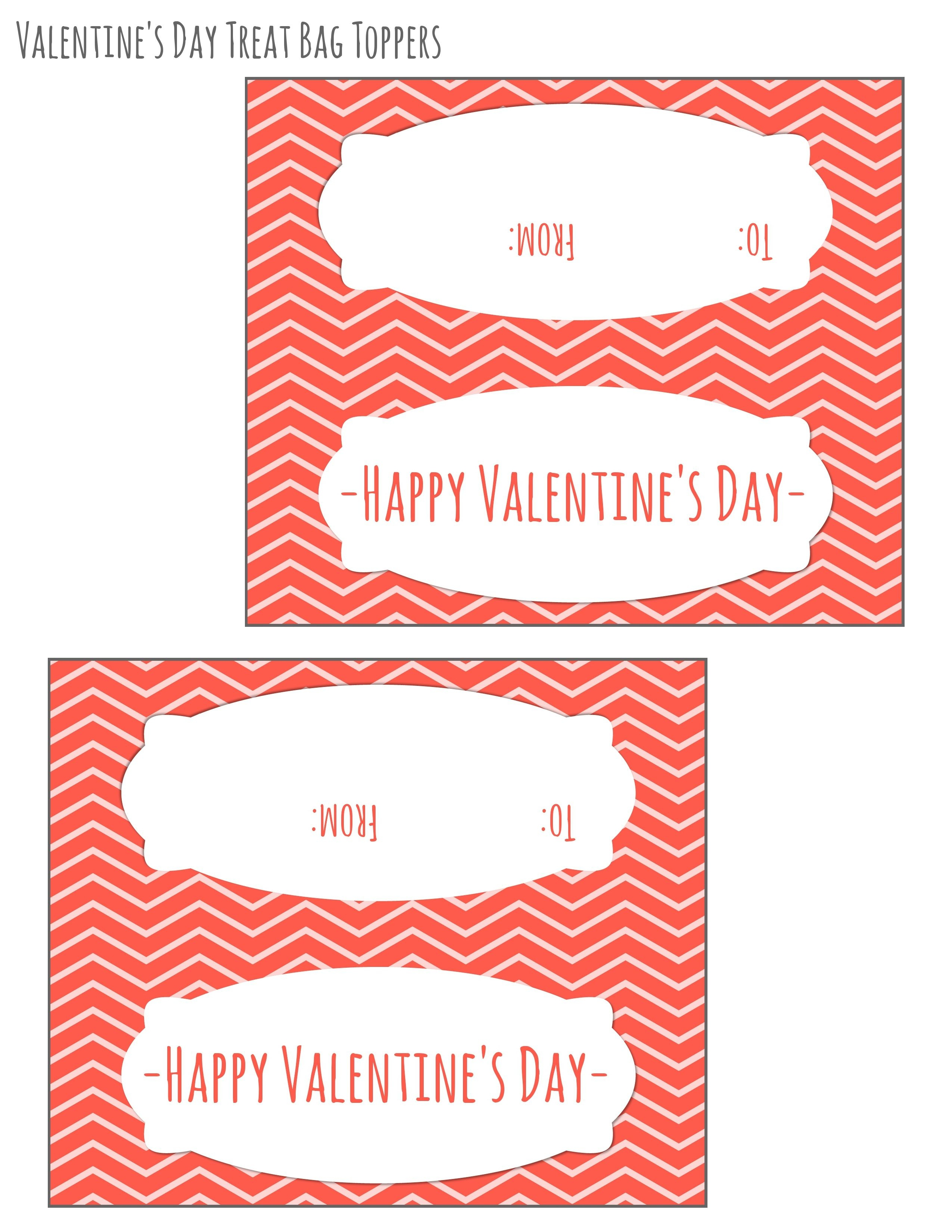Free Printable Valentines Day Bag Toppers | February | Valentines - Free Printable Valentine's Day Stencils