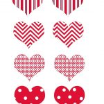 Free Printable Valentine's Day Cupcake Hearts. | 4Th Of July Etc   Free Printable Valentine Heart Patterns
