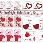 Free Printable Valentine's Day Gift Tags: Multiple Designs & Sizes   Free Printable Valentine's Day Stencils