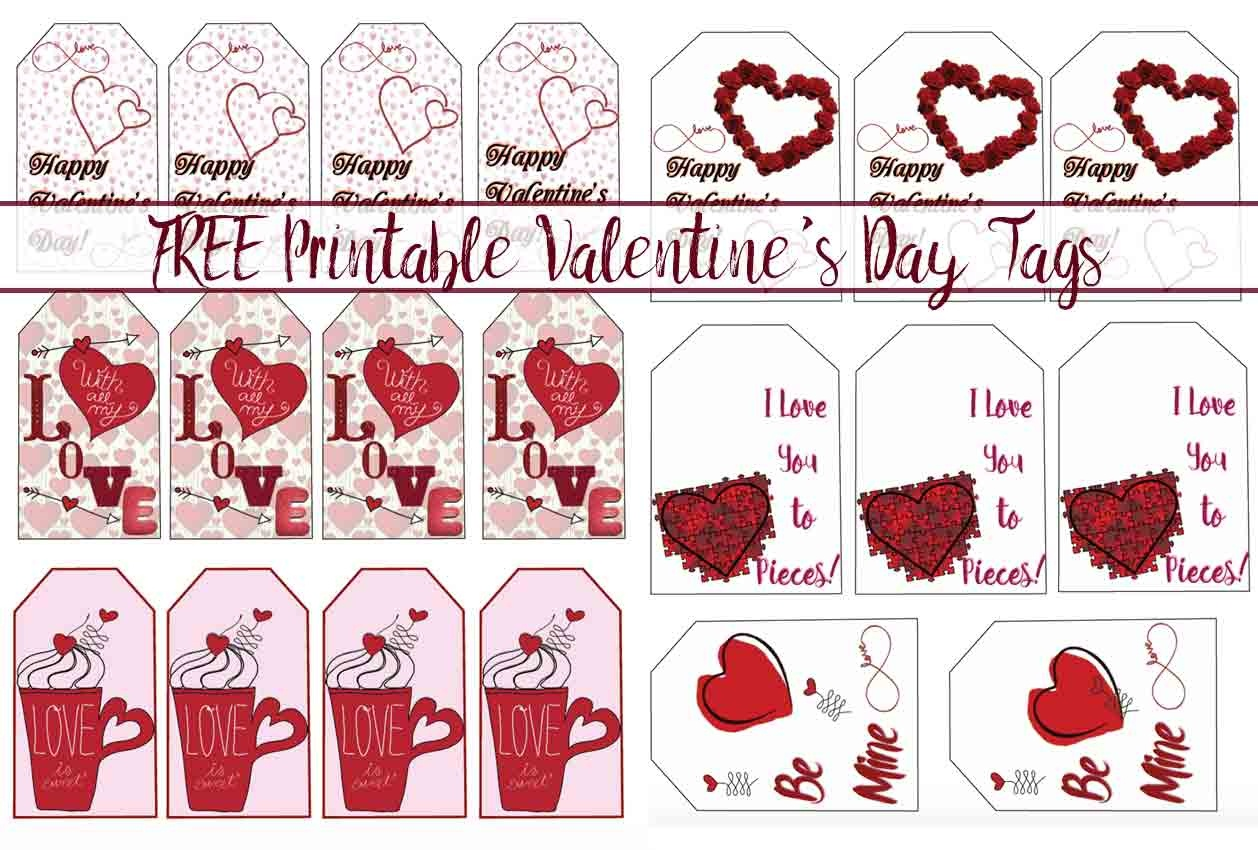 Free Printable Valentine's Day Gift Tags: Multiple Designs & Sizes - Free Printable Valentine's Day Stencils