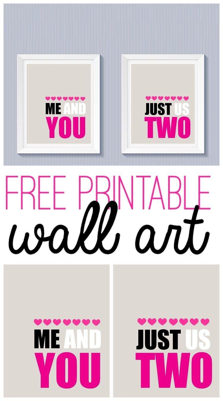 Free Printable Valentine's Day Wall Art | Free Printables - Free Printable Valentine Decorations