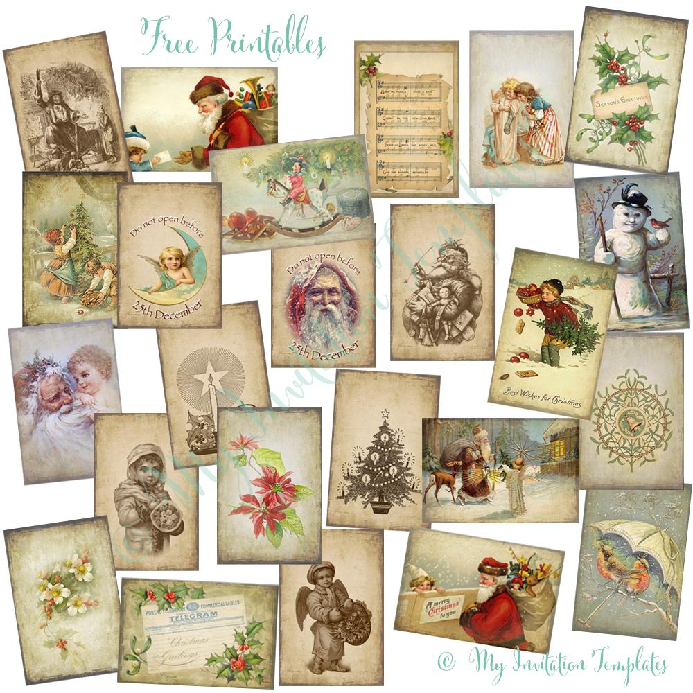 Free Printable Vintage Christmas Tags For Gifts – Festival Collections - Free Printable Vintage Christmas Tags For Gifts