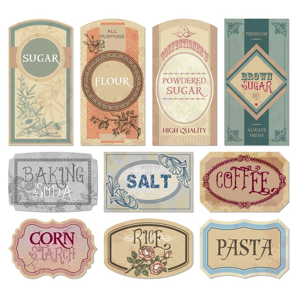 Free Printable Vintage Labels For Jars And Canisters To Organize - Free Printable Old Fashioned Labels