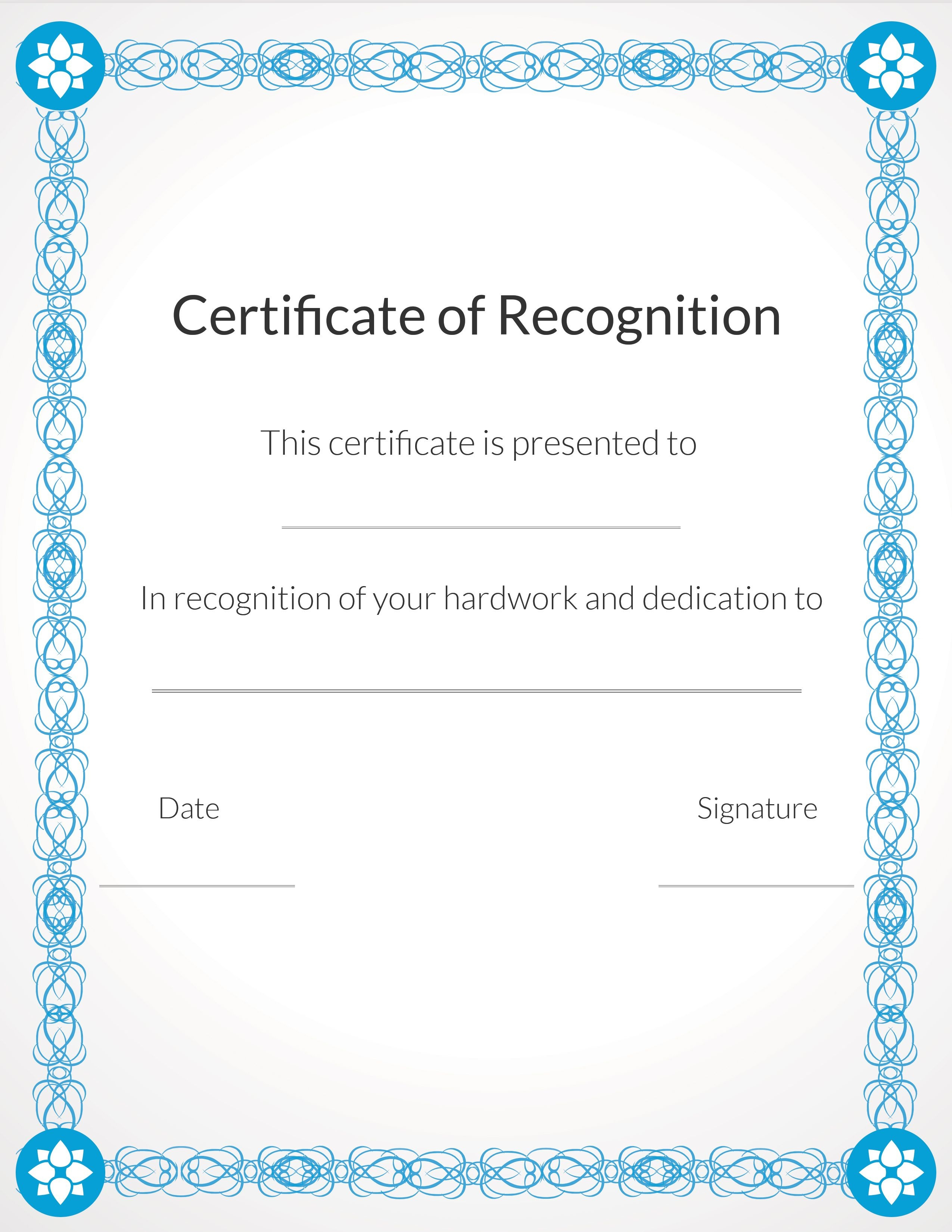 Free, Printable Volunteer Recognition And Appreciation Certificates - Free Printable Certificates For Students