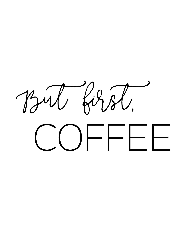 Free Printable Wall Art | Apartment Kitchen Decor Ideas | Free - Free Coffee Printable Art