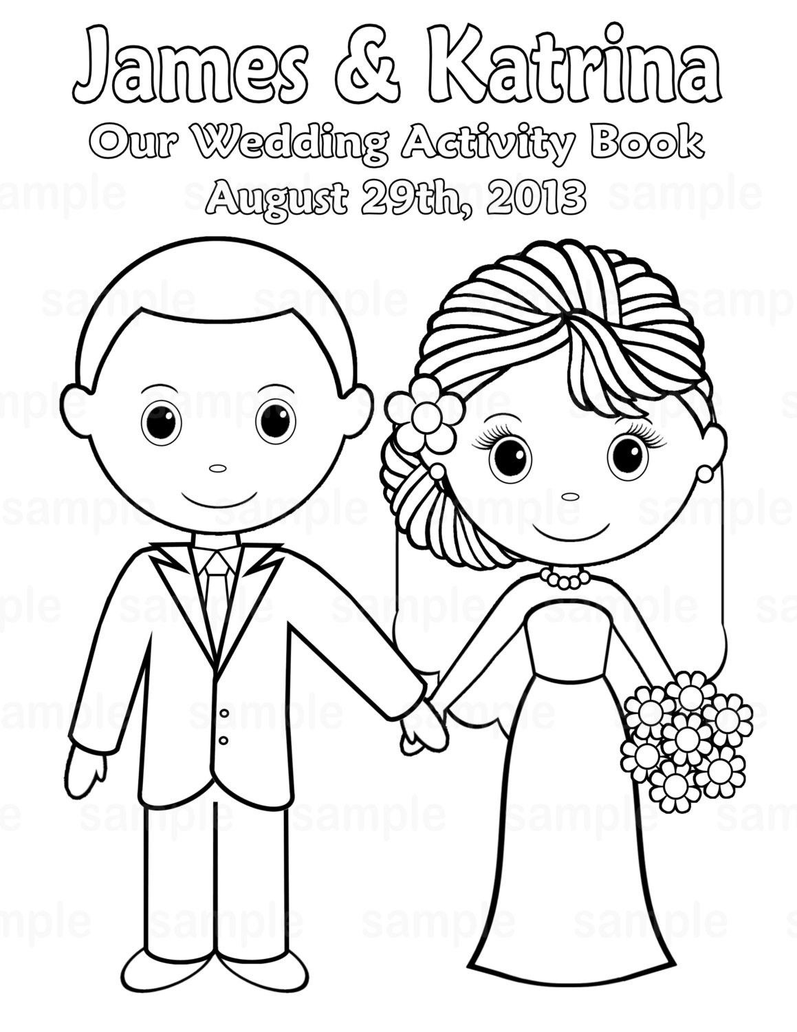 Free Printable Wedding Coloring Pages   Free Printable Wedding - Free Printable Personalized Wedding Coloring Book