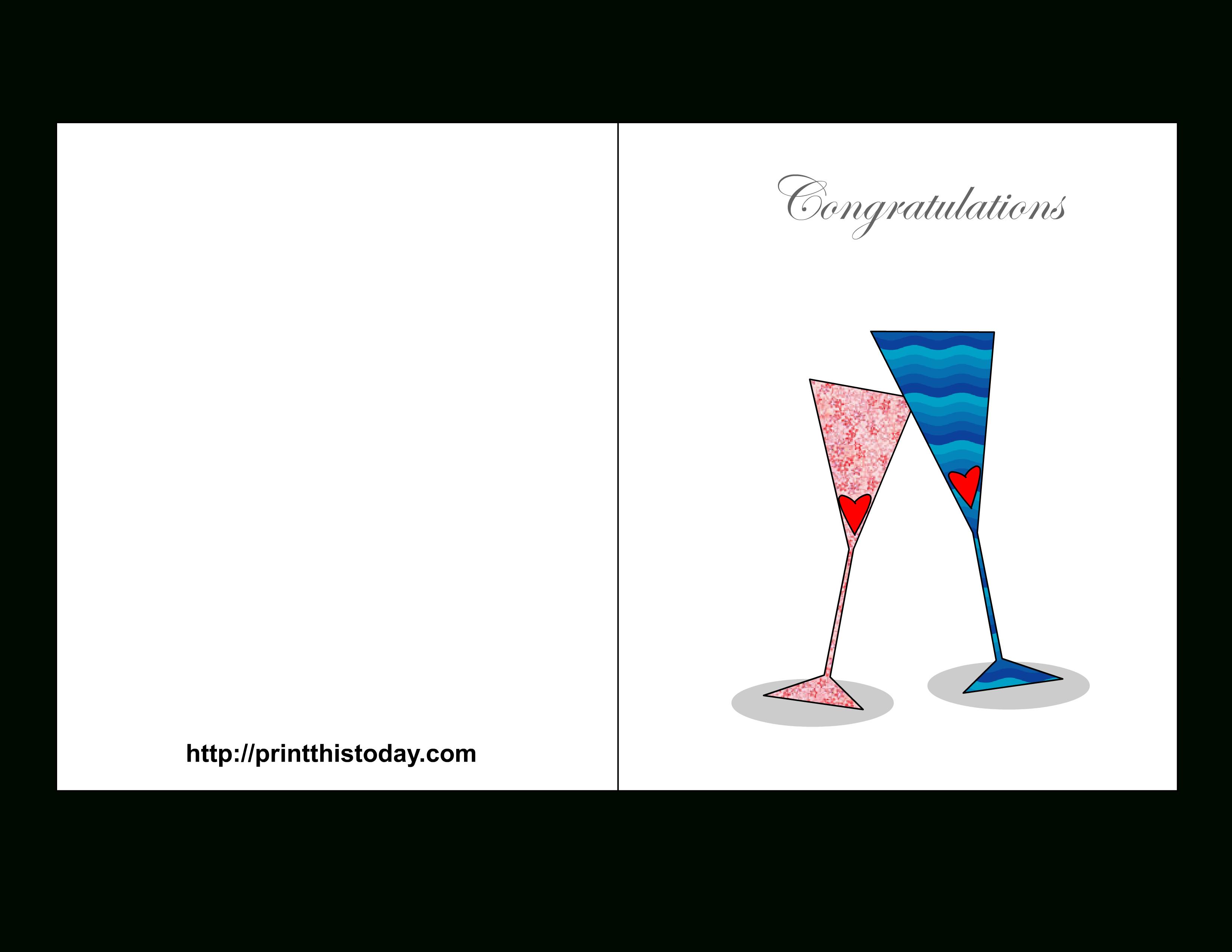 Free Printable Wedding Congratulations Cards - Wedding Wish Cards Printable Free