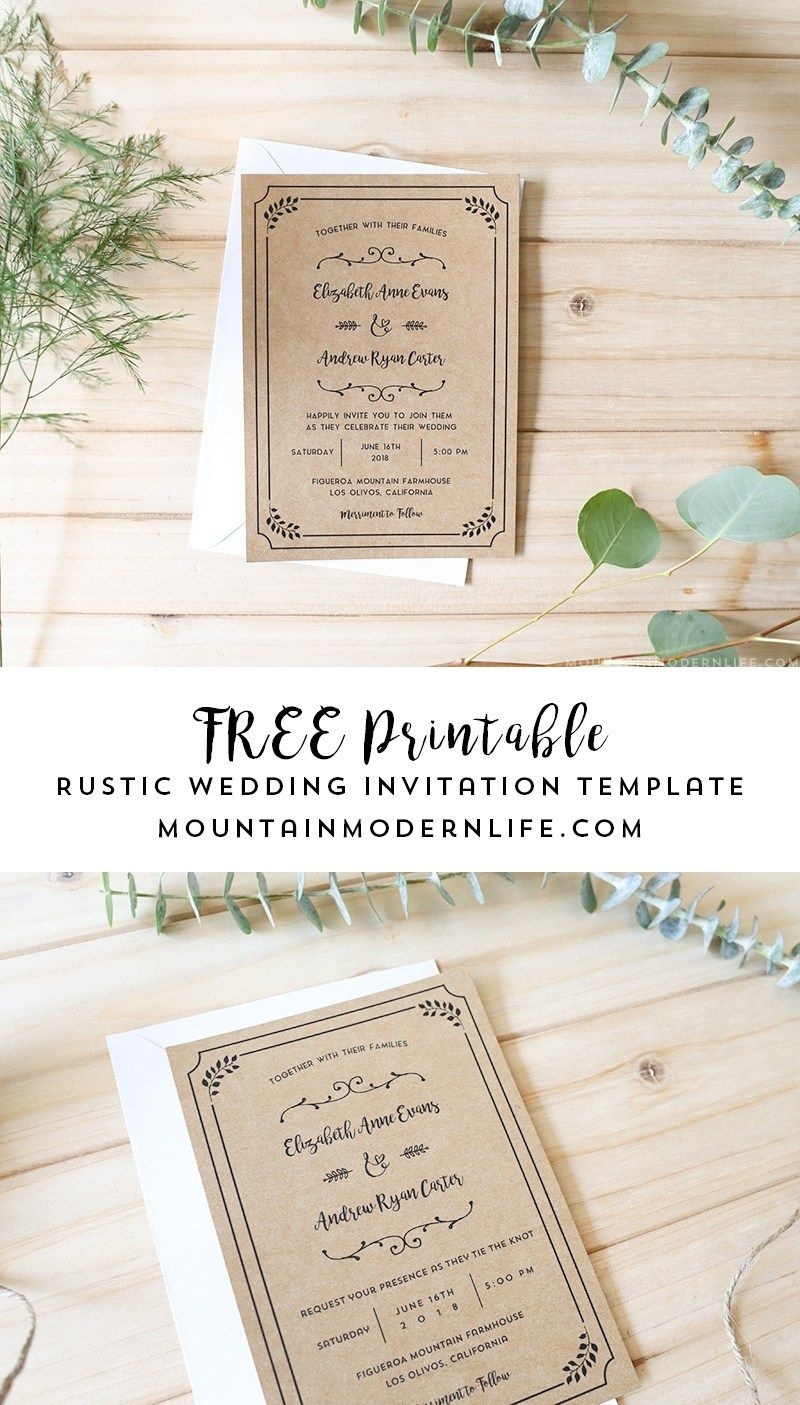Free Printable Wedding Invitation Template | | Freebies | | Free - Free Printable Wedding Invitations With Photo