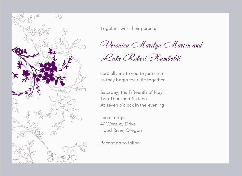 Free Printable Wedding Invitation Templates For Microsoft Word - Free Printable Wedding Invitation Templates For Word