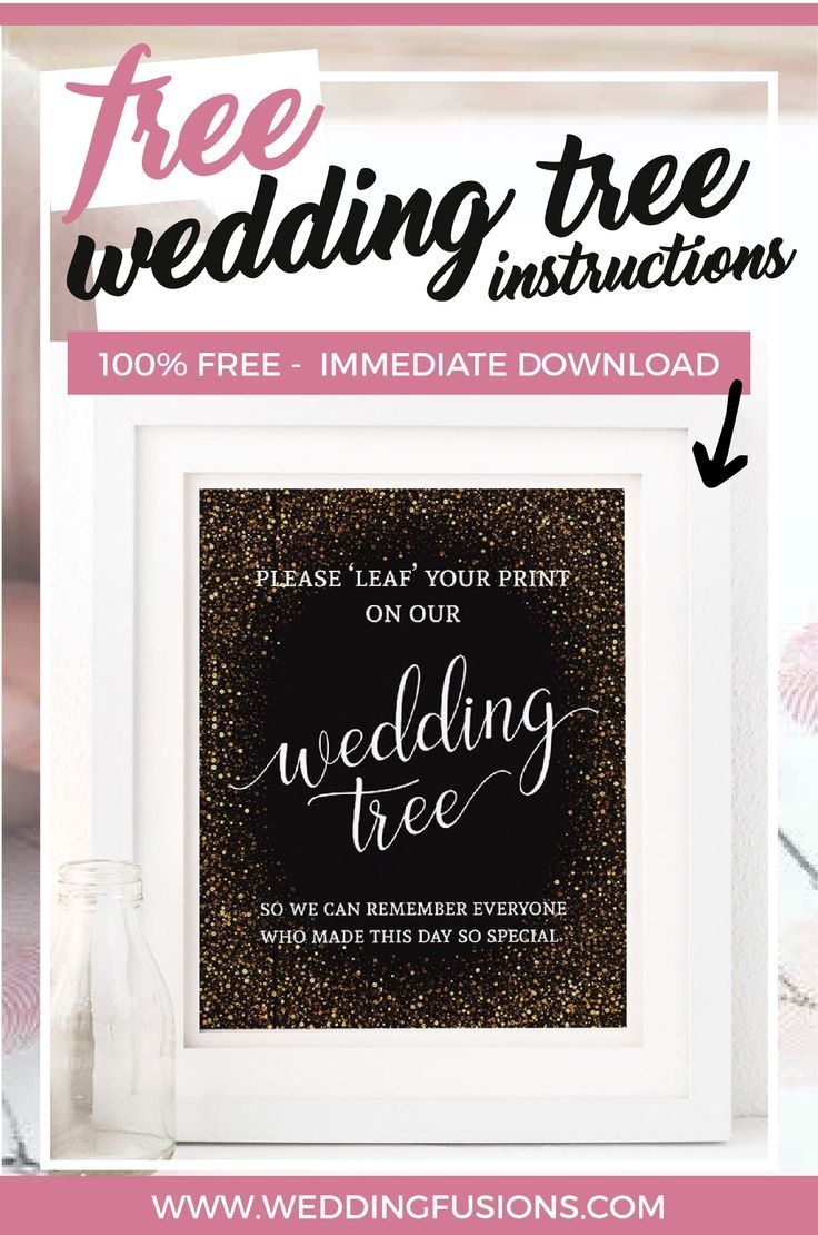 Free Printable Wedding Tree Instructions | Crafts | Wedding Posters - Free Printable Wedding Decorations