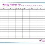 Free Printable Weekly Calendar Templates | Weekly Planner For Time   Free Printable Blank Weekly Schedule