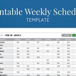 Free Printable Weekly Work Schedule Template For Employee Scheduling   Free Printable Blank Work Schedules