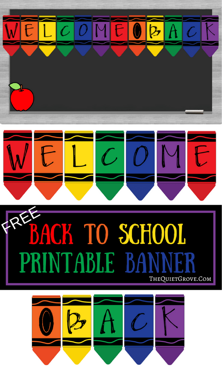 Free Printable Welcome Back To School Banner | The Quiet Grove - Welcome Back Banner Printable Free