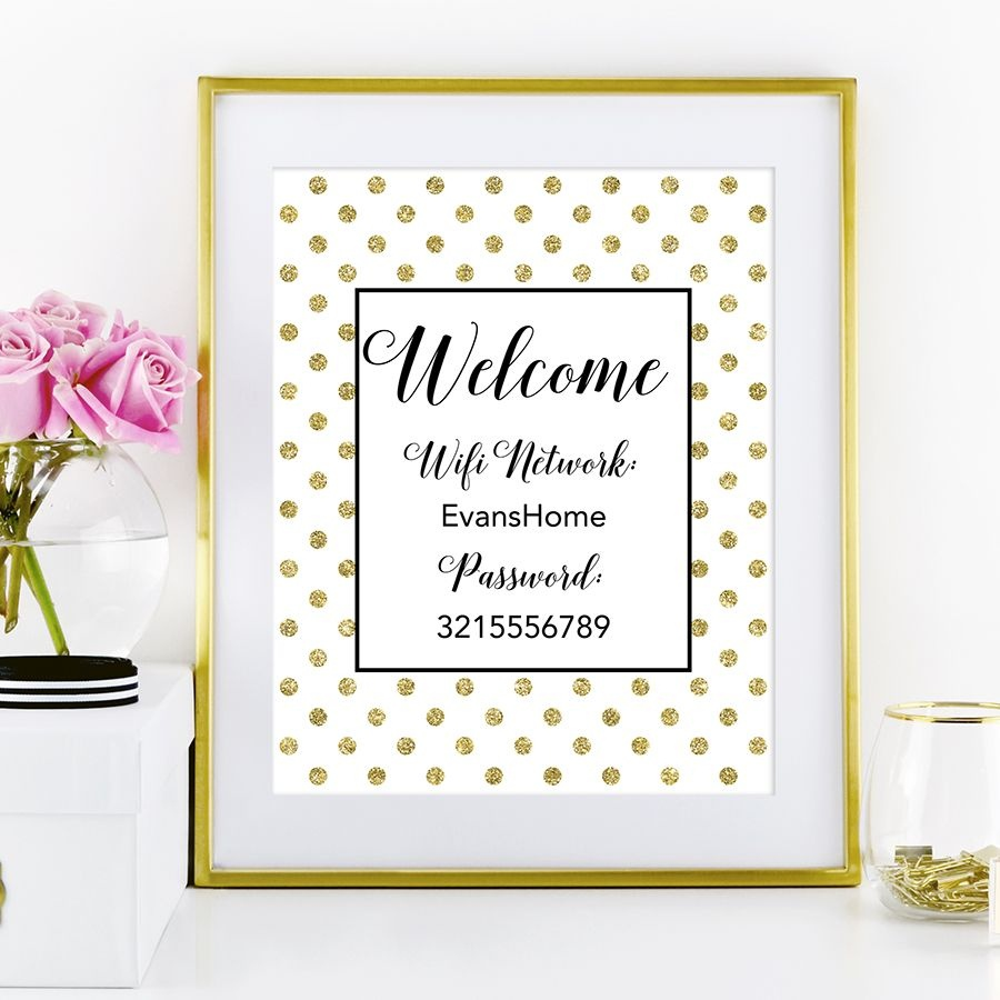 Free Printable Wifi Password Sign From @chicfetti | Office | Wifi - Free Printable Wifi Sign
