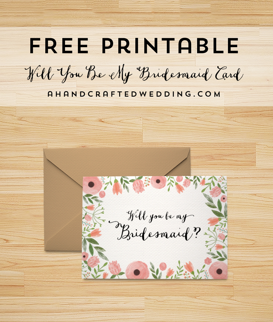 Free Printable Will You Be My Bridesmaid Card | | Freebies | | Be My - Free Printable Will You Be My Maid Of Honor Card