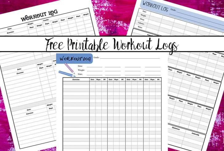 picture regarding Printable Workout Log named no cost printable exercise routine log sheets Cost-free Printable