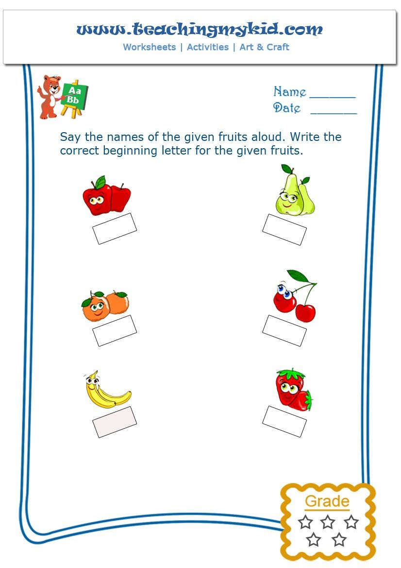 Free Printable Worksheet - What's The Letter | Teachingmykid - Free Printable Hoy Sheets