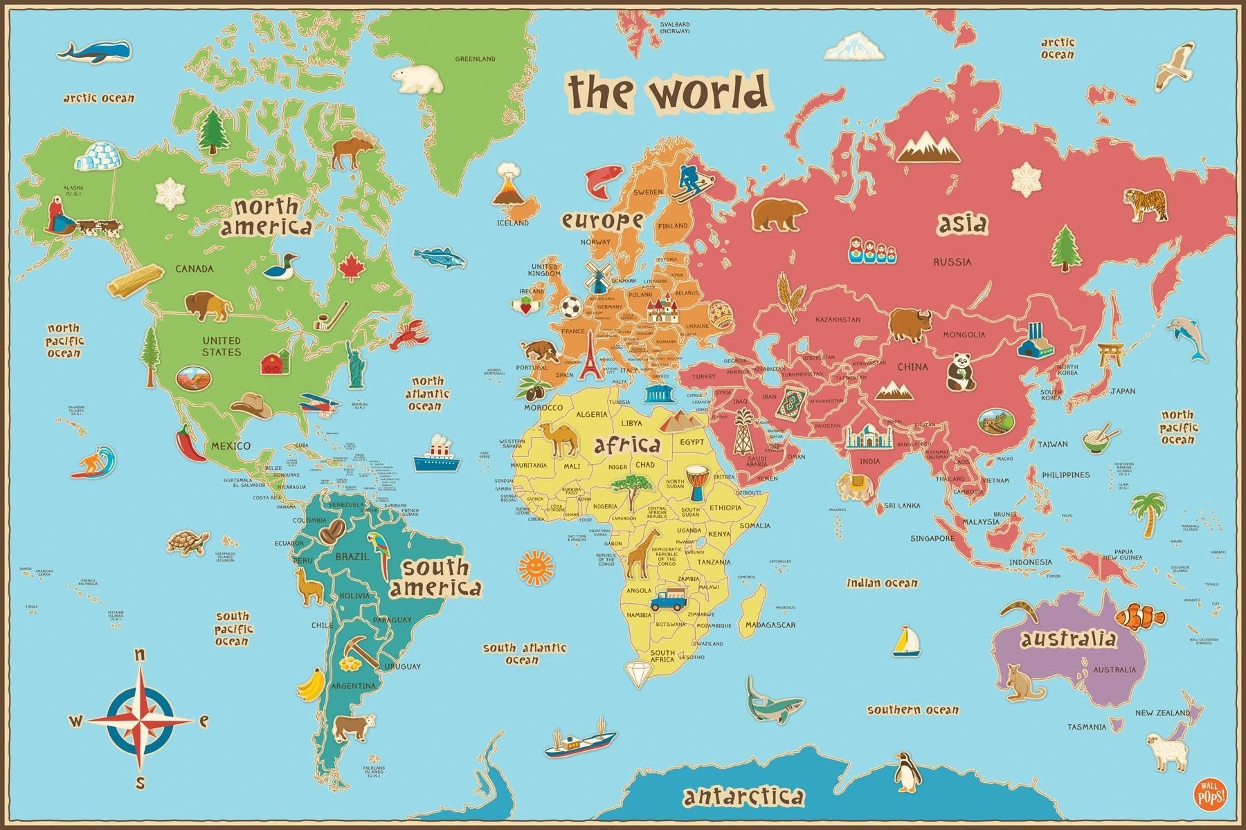 Free Printable World Map For Kids Maps And   Gary's Scattered Mind - Free Printable World Map