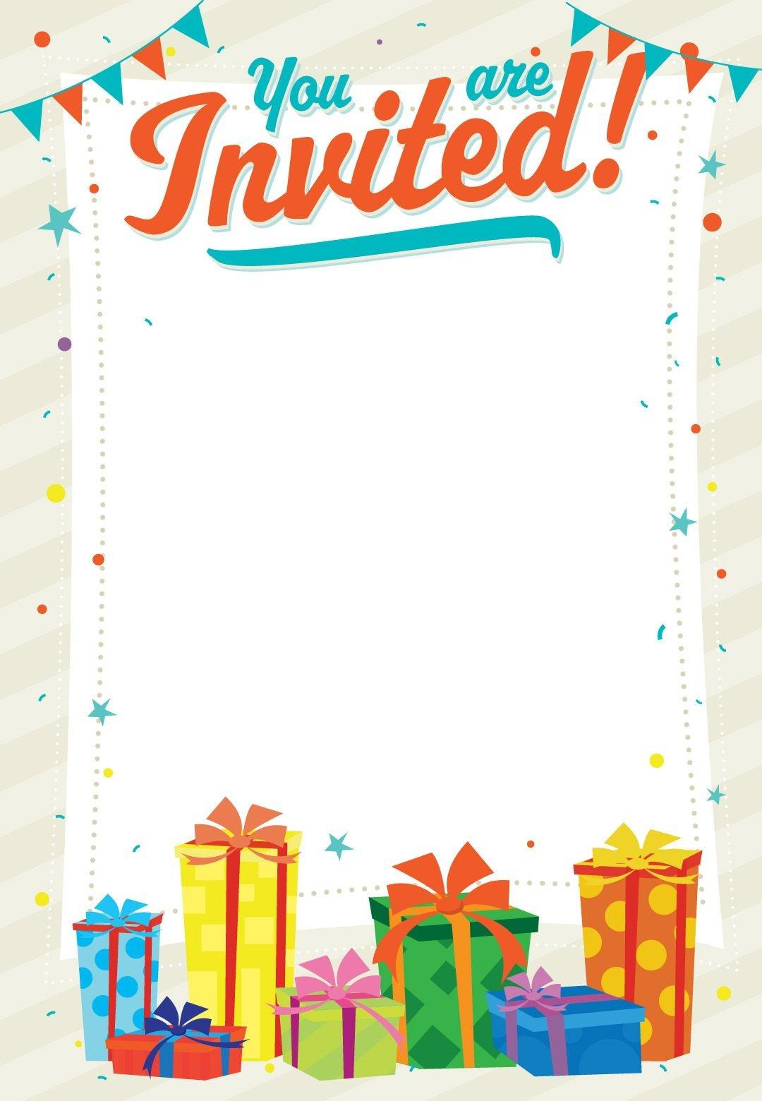 Free Printable You Are Invited Invitation   Printables & Fonts - Free Printable Birthday Invitation Cards Templates