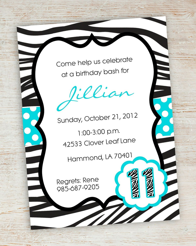 Free Printable Zebra Party Invitations | Printable Pink Turquoise - Free Printable Polka Dot Birthday Party Invitations