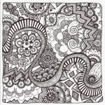 Free Printable Zentangle Coloring Pages For Adults   Free Printable Zentangle Templates