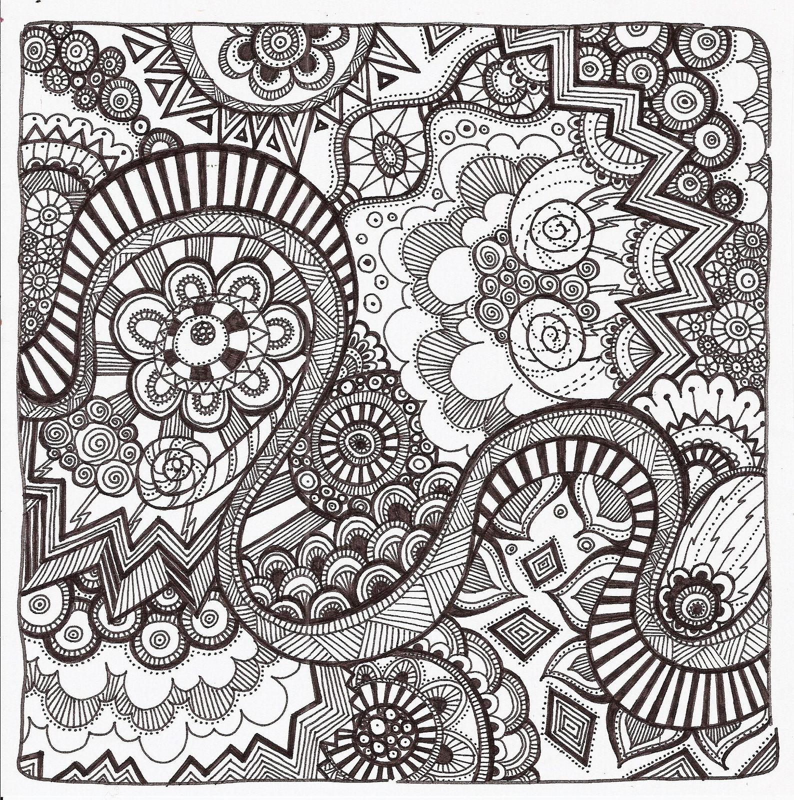 Free Printable Zentangle Coloring Pages For Adults - Free Printable Zentangle Templates