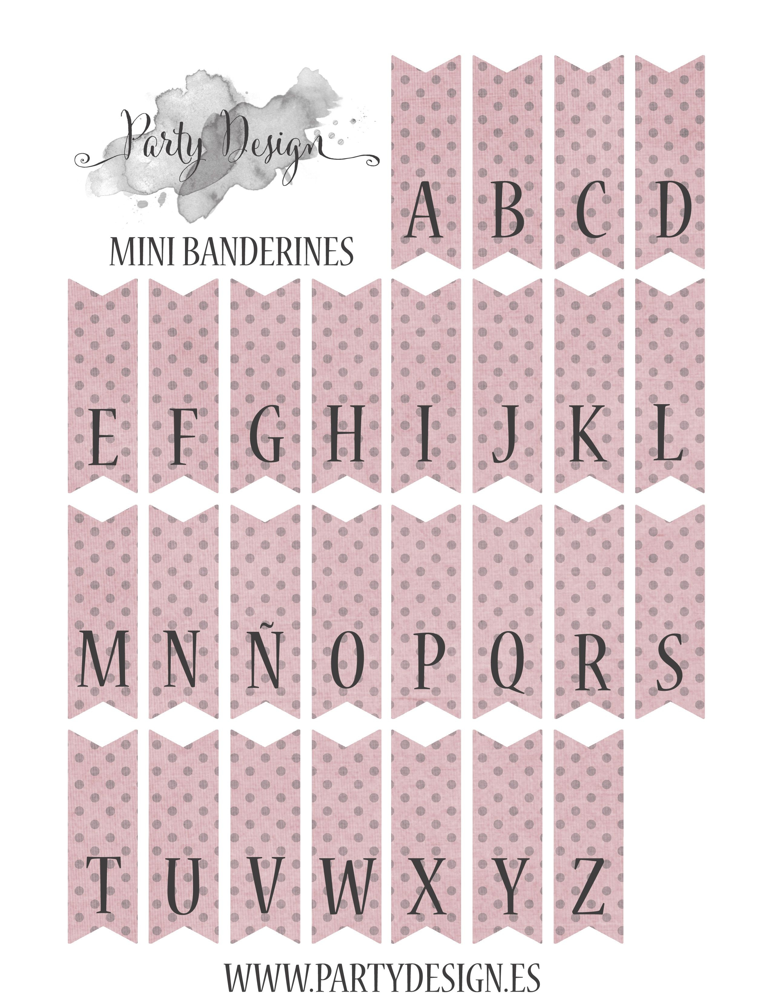 Free Printables Alphabet Page For Cake Bunting. It Comes In Yellow - Baby Shower Bunting Free Printable