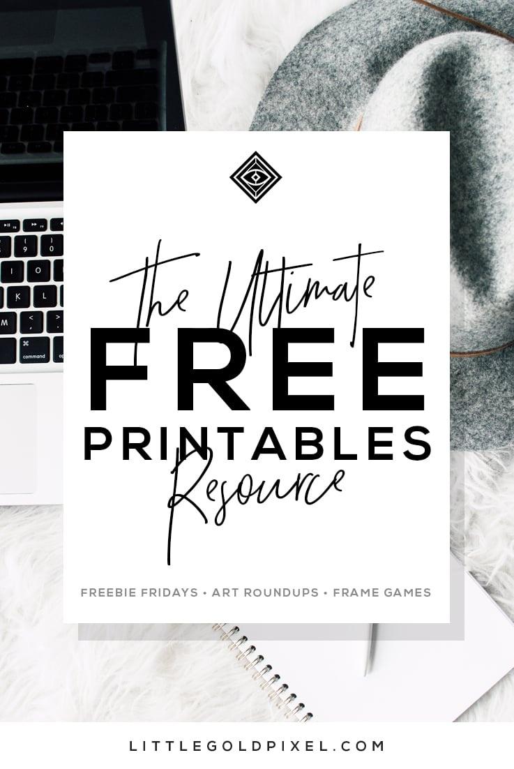 Free Printables • Free Wall Art Roundups • Little Gold Pixel - Free Printable Art