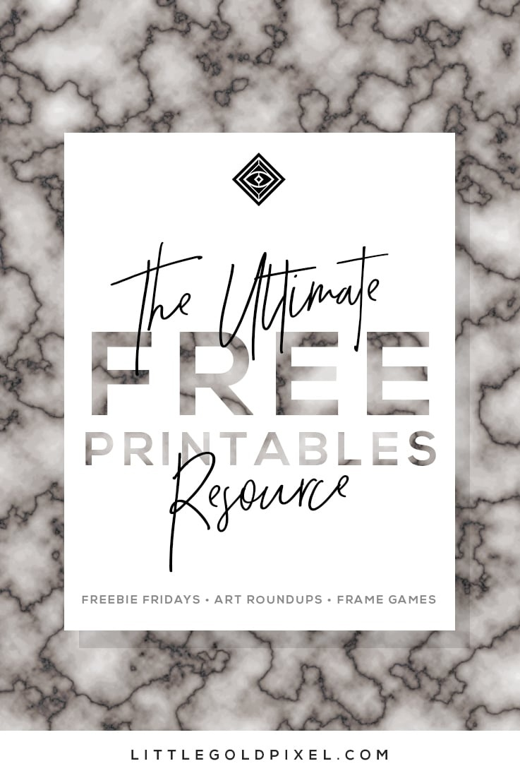 Free Printables • Free Wall Art Roundups • Little Gold Pixel - Free Printable Artwork To Frame
