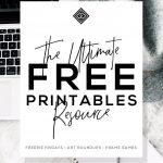 Free Printables • Free Wall Art Roundups • Little Gold Pixel   Free Printable Posters