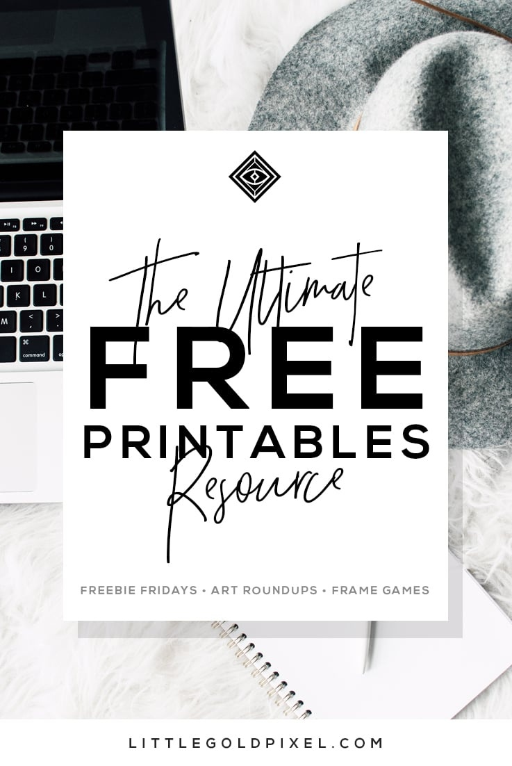Free Printables • Free Wall Art Roundups • Little Gold Pixel - Free Printable Wall Art Black And White