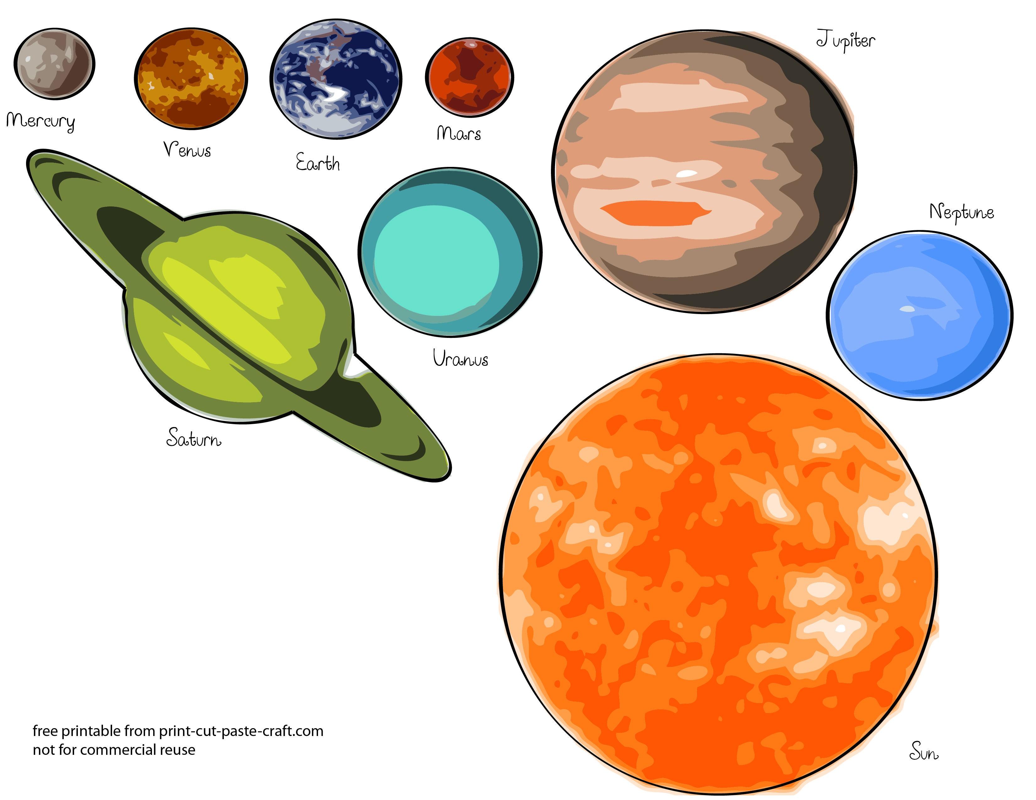 Free Printable Solar System Flashcards   Free Printable