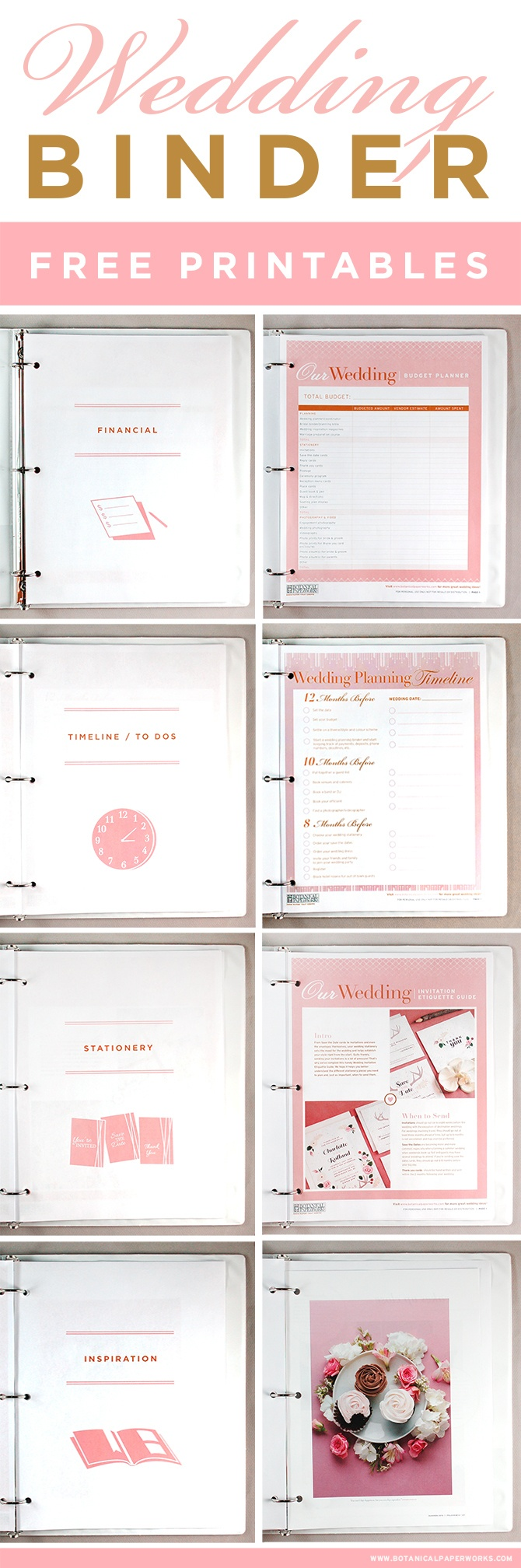 Free Printables} Wedding Planning Binder | Blog | Botanical Paperworks - Free Printable Wedding Binder Templates