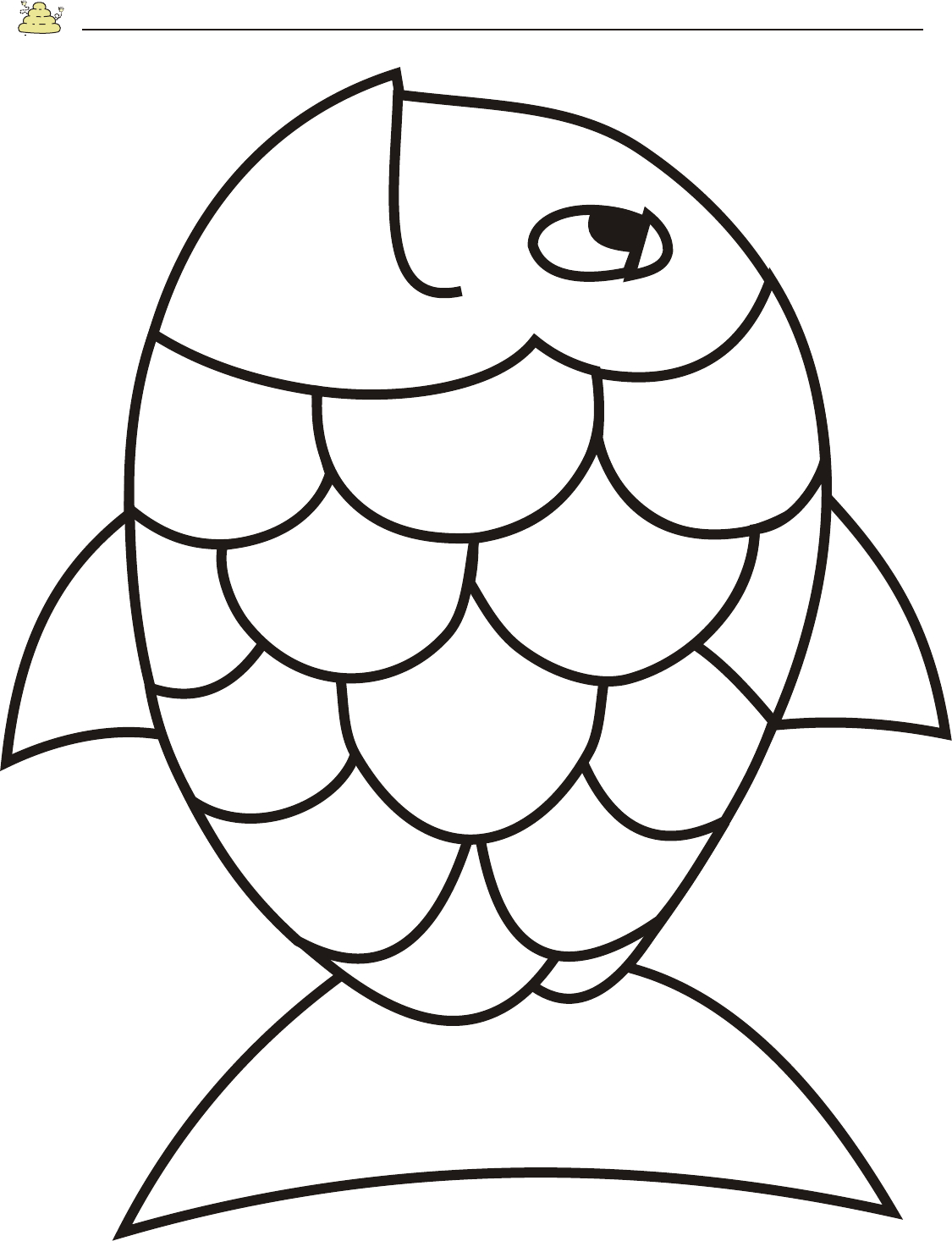 Free Rainbow Fish Template - Pdf | 2 Page(S) | Page 2 | Vbs - Free Printable Fish Stencils