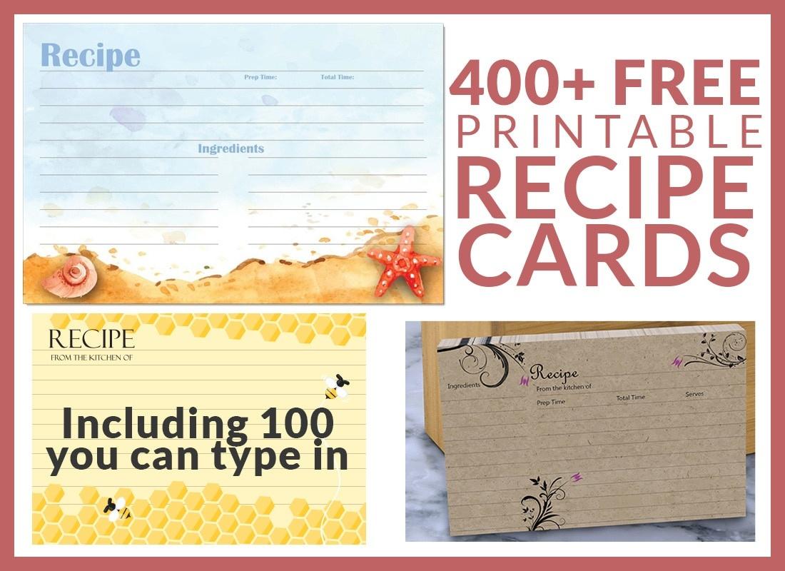 Free Recipe Cards - Cookbook People - Free Printable Recipe Dividers