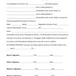 Free Recreational Vehicle (Rv) Bill Of Sale Form   Word | Pdf   Free Printable Bill Of Sale For Trailer