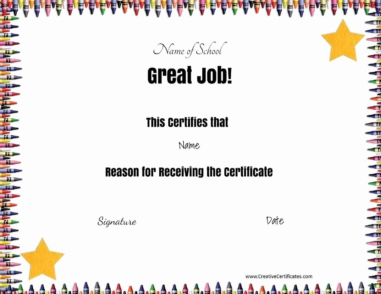 Free School Certificates & Awards - Free Printable Award Certificates For Elementary Students