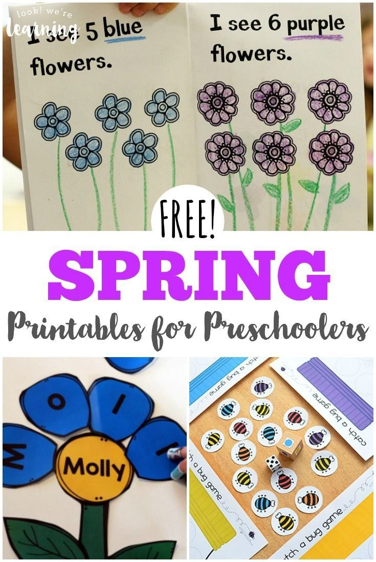 Free Spring Printables For Preschoolers | Spring Activities For Kids - Free Printable Early Childhood Activities