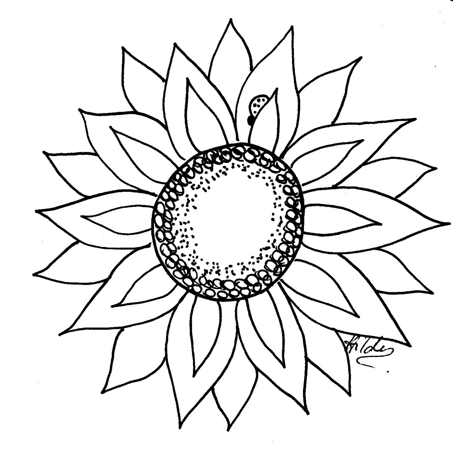 Free Sunflower Template, Download Free Clip Art, Free Clip Art On - Free Printable Sunflower Template