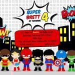Free Superhero Birthday Party Invitation Templates | Birthday Party   Free Printable Superhero Birthday Invitation Templates
