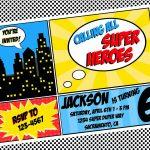 Free Superhero Invitation Templates   Invitation Templates   Free Printable Superhero Birthday Invitation Templates