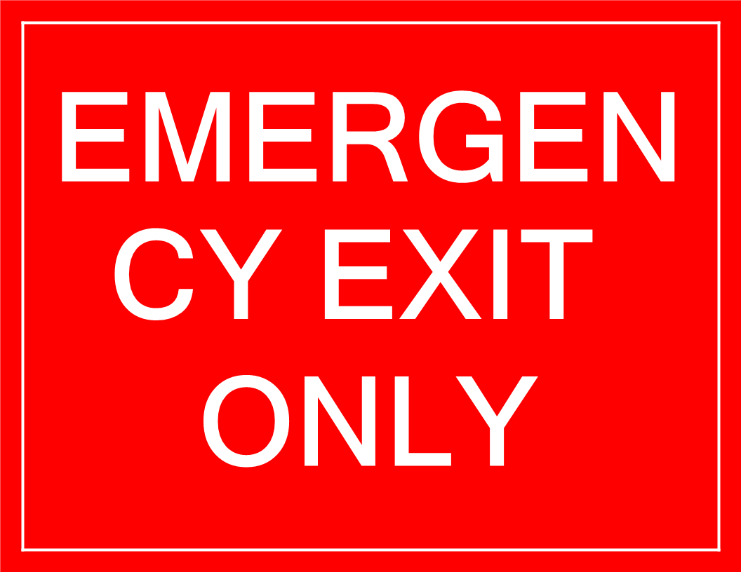 Free Temporary Emergency Exit Sign   Templates At - Free Printable Emergency Exit Only Signs