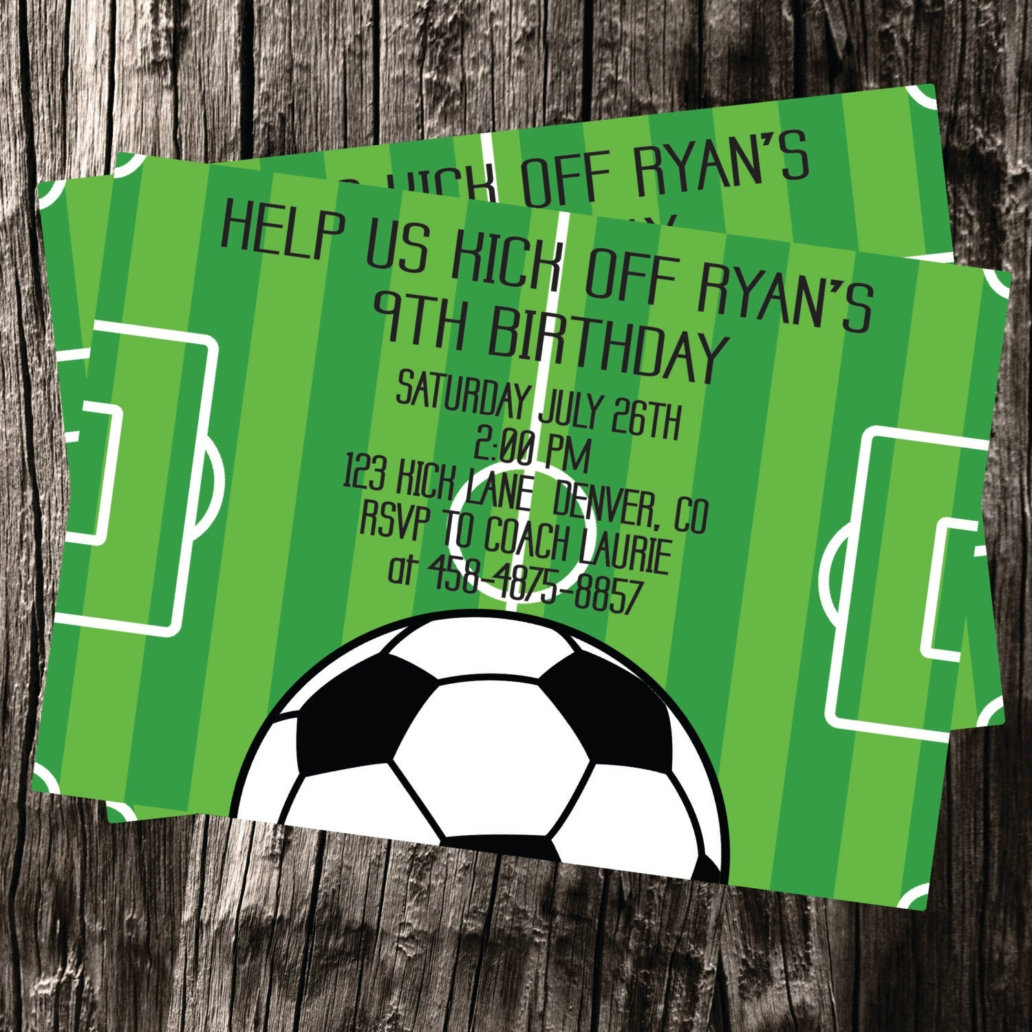 Free Thank You Cards Included Soccer Themed Customized | Etsy - Free Printable Soccer Thank You Cards